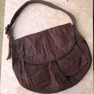 Vintage Lucky Brand leather shoulder bag